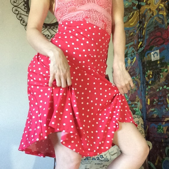 Honey and Lace Dresses & Skirts - Honey & Lace Minnie Mouse Red Polka Dot Skirt